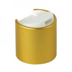 Cap, 20/410, Disc Cap, Matte Gold Over-cap