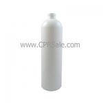 Plastic Bottle, HDPE, Round, White, 16oz - CASE