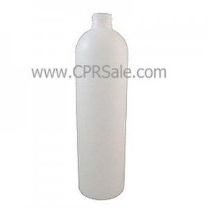 Plastic Bottle, HDPE, Round, Natural, 16oz