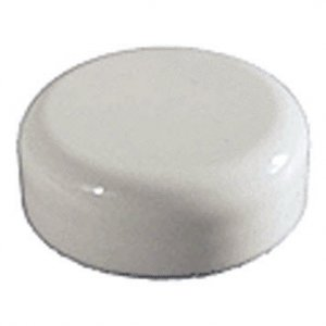 Cap, 53/400, White, Domed, Unlined
