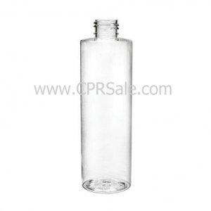 Plastic Bottle, PET, Cylinder, Clear, 8oz