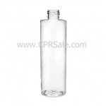Plastic Bottle, PET, Cylinder, Clear, 8oz
