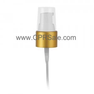 Pump, 20/410, Treatment, Matte Gold Collar, White Actuator, Output 0.28 - 0.48cc, Dip tube Length: 6 in