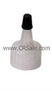 Yorker Spout Cap, 24/410, Disc Cap, Natural with Black Tip Cap | Cosmetic  Packaging Resources