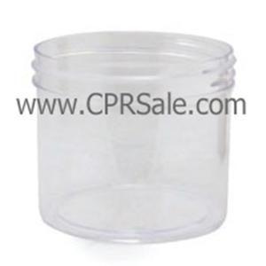 Jar, PET, Round, Clear, 70mm, 8oz