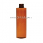 Plastic Bottle, PET, Cylinder, Amber, 8oz