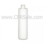 Plastic Bottle, HDPE, Cylinder Round, White, 10oz