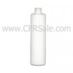 Plastic Bottle, HDPE, Cylinder Round, White, 10oz