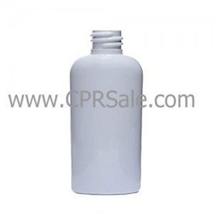 Plastic Bottle, HDPE, Cosmo Oval, White, 2oz, 20/410