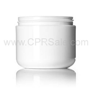 Jar, 4oz, PP, Round, White, Double Wall, Round Base, 70mm