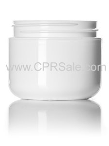 Jar, 2oz., PP, Round Base, White, Dbl Wall, 58mm
