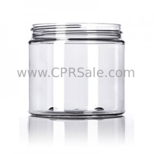 Jar, PET, Round, Clear, 89mm, 16oz