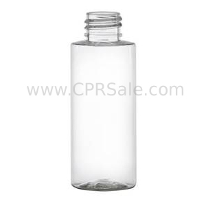 Plastic Bottle, PET, Cylinder, Clear, 2oz