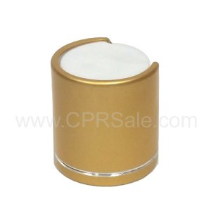 Cap, 20/410, Disc Cap, Gold Over-cap with Shiny Silver Band