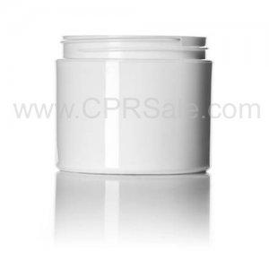 Jar, 1oz., PP, Straight Base, White, Dbl Wall, 53mm