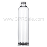 Plastic Bottle, PET, Bullet Round, Clear, 8oz
