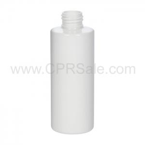 Plastic Bottle, PET, Cylinder, White, 6oz - Texas
