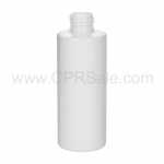 Plastic Bottle, PET, Cylinder, White, 6oz