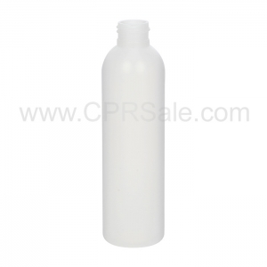 Plastic Bottle, HDPE, Imperial Round, Natural, 6oz - Texas