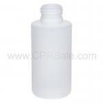 Plastic Bottle, HDPE, Cylinder, Natural, 3oz