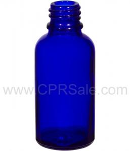 Tincture Bottle, 30ml (1oz.) Blue Glass , 20-400