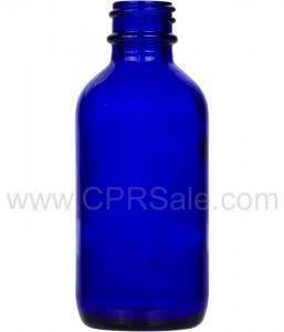 Tincture Bottle, 60ml (2oz.) Cobalt Blue Glass, 20-400