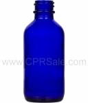 Tincture Bottle, 60ml (2oz.) Cobalt Blue Glass, 20-400