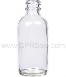 Tincture Bottle, 60ml (2oz.) Clear Glass, 20-400 - Texas
