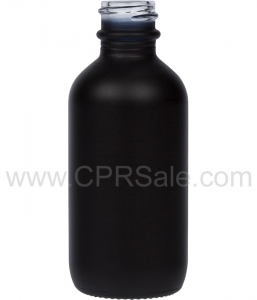 Tincture Bottle, 60ml (2oz.) Black, Matte Glass, 20-400