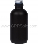 Tincture Bottle, 60ml (2oz.) Black, Matte Glass, 20-400