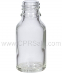 Tincture Bottle, 15ml (0.5oz.) Clear Glass, 18-400