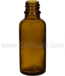 Tincture Bottle, 30ml (1oz.) Amber Glass , 18-400