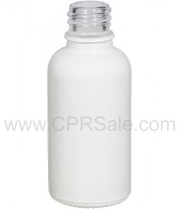 Tincture Bottle, 30ml (1oz.) White, Glossy Glass, 18-400