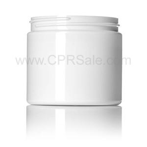 Jar, PET, Round, White, 89mm, 16oz