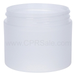 Jar, PP, Round, Frosted, Straight Sided, 2oz, 58mm