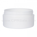 Jar, 2oz., PP, Straight Base, White, Low Profile, Dbl Wall, 70mm