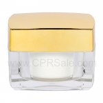 Jar, Acrylic, Square, Clear Base, Shiny Gold Top, 30mL