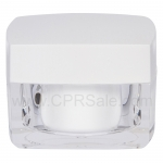 Jar, Acrylic, Square, Clear Base, Glossy White Top, 50mL