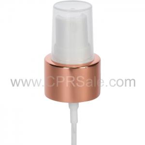 """Sprayer, 24/410, Shiny Rose Gold Collar, White Actuator, Dip tube Length: 6.065"""" - Texas"""