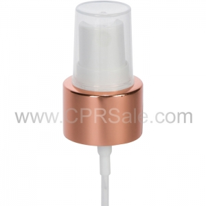 "Sprayer, 24/410, Shiny Rose Gold Collar, White Actuator, Dip tube Length: 6.065"""