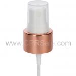 Sprayer, 24/410, Shiny Rose Gold Collar, White Actuator, Dip tube Length: 6.065""