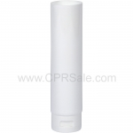 White Glossy Tube, 5 Layer, with White Smooth Flip Top Cap, Open End 4oz.