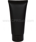 Plastic Tube, Matte Black Body, LDPE with Glossy Black Flip Top Cap, Sealed End 6oz.