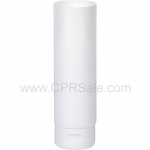 Plastic Tube, White Body, LDPE with White Flip Top Cap, Open End 6oz.