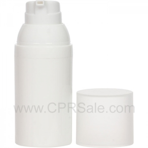 Airless Bottle, Frosted Cap, White Collar, White Body, 30 mL - Texas