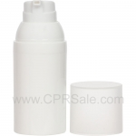Airless Bottle, Frosted Cap, White Collar, White Body, 30 mL