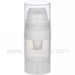 Airless Bottle, Natural Cap, White Pump, Natural Body, 5 mL
