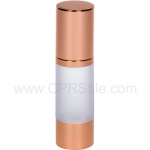 Airless Bottle, Rose Gold Cap, Rose Gold Collar, Frosted Body, 30 mL