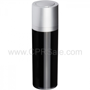 Airless Bottle, Matte Silver Twist Up Dispenser, Black Body, 50 mL - Texas