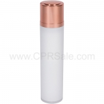 Airless Bottle, Shiny Rose Gold Twist Up Dispenser, White Body, 50 mL